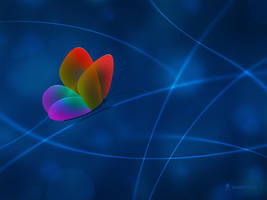 Rainbow Butterfly by vladstudio
