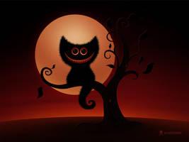Halloween Kitten by vladstudio