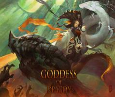 Goddess of dragon. by masterkey23