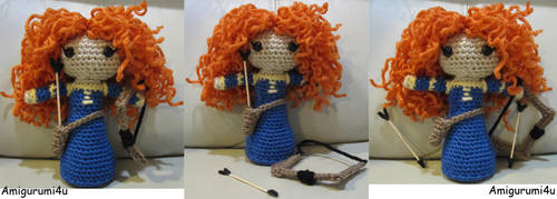 Merida from Brave (Updated) by amigurumi4u