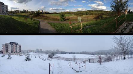 Summer vs. Winter by Waronicuke