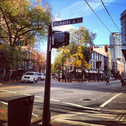 Autumn Day in Gastown by ejsm8