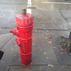 fire hydrant red by ejsm8