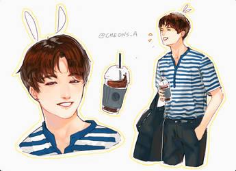 Coffee Bunny Jungkook by Aureta