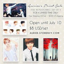 [PRE-ORDER ONLY] BTS Fanart Print Set for Sale! by Aureta