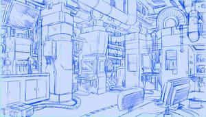 Concept City - Interior Lab by self-replica