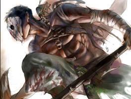 warrior by serushins