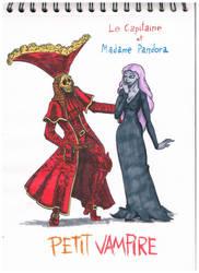 Petit vampire-Le Capitaine et Madam Pandora by DBG-Rol-and-More