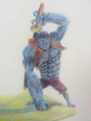 Nightmare Luffy (Color pencil) by DBG-Rol-and-More