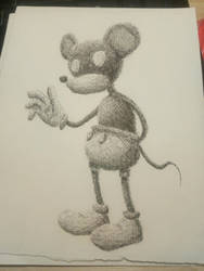 MIKEY MOUSE: Trabajo a plumilla () by DBG-Rol-and-More