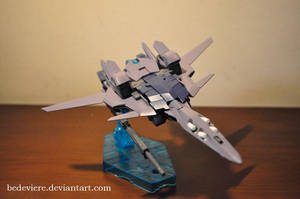 HGUC 1/144 MSN-001A1 Delta Plus (Waverider Mode) by bedeviere
