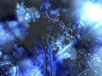 mystic blue forest by Killerworm51