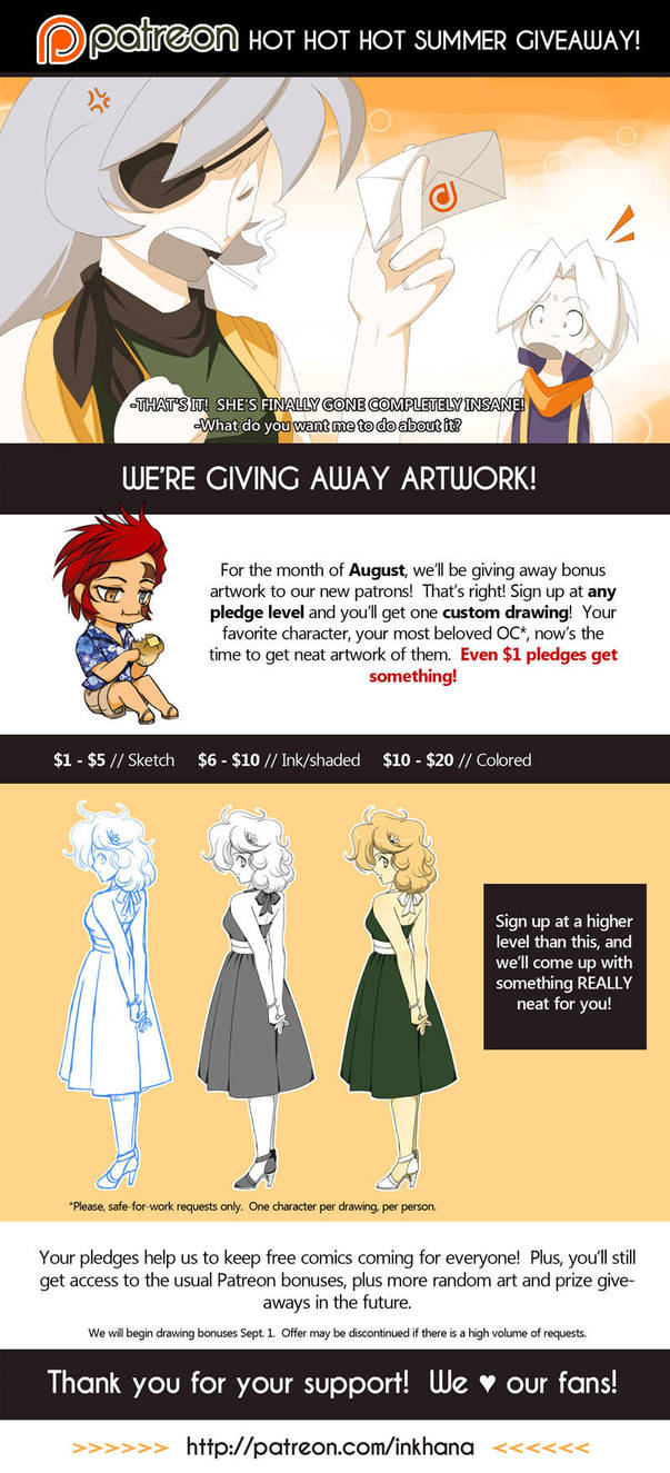 August Art Giveaway by inkhana