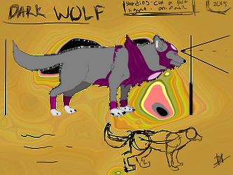dark wolf by deady17