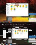 V1 Windows 10 File Explorer Concept (HD) by dAKirby309