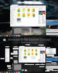 V3 Windows 10 Explorer Concept - Reimagined Ribbon by dAKirby309
