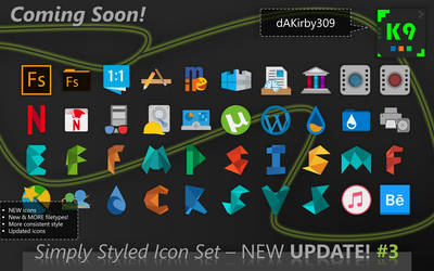 [RELEASED] PREVIEW #3 - Simply Styled Icon Set by dAKirby309