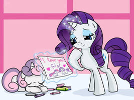 [Request] Rarity and Sweetie Belle by Frank-Seven