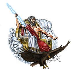 Mighty Zeus tattoo by akoyma