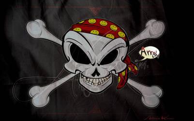 Pirate Flag by akoyma