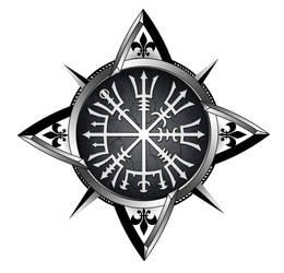 Vegvisir compass tattoo by akoyma