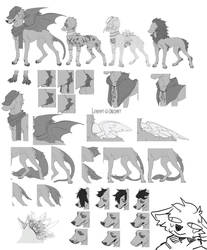 (P2U) Canine Lineart [onldaff] by todaff
