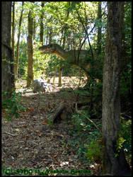 Yangchuanosaurus Juvenile in its Natural Habitat by Nashoba-Hostina