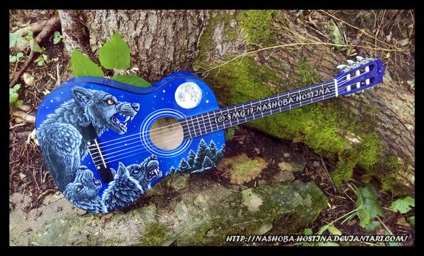 Werewolf Guitar by Nashoba-Hostina