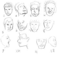 One Thousand Faces, 1-12 by Kolotation