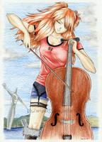 Asuka's chello by DawnArts