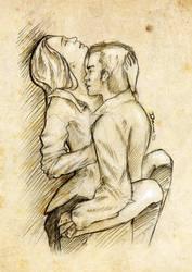 Kiss me - Klaroline by DawnArts