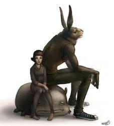 Rabbit fighter by esserawks