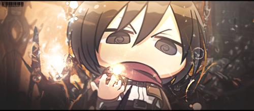 Mikasa  Chibi by   princedork by princedork