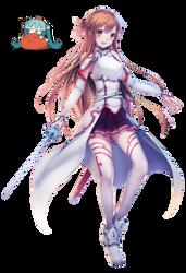 Asuna  Render [Sword Art Online] by princedork