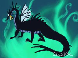 Maleficent (Dragon Form) Wallpaper by Luiskoa64