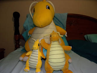 My Dragonite Plushs Collections by Luiskoa64