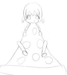 Nagisa munches Pizza by Billyblue999