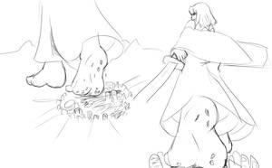 Ryougi Practice by Billyblue999