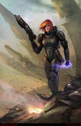 Commander Shepard by stevegoad