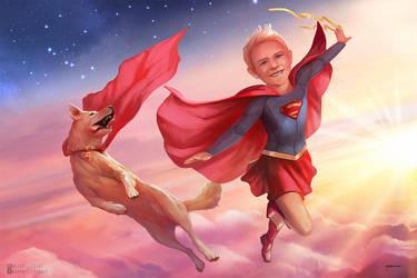 Olivia the Superkid by stevegoad