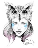 Owl girl by Malvadali
