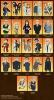 The Cast of Skulduggery Pleasant Part One by Expression