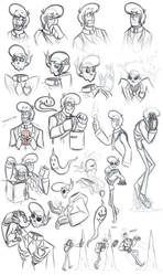 Lewis Sketches by Expression