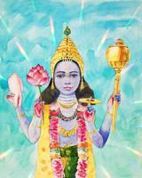 Lord Vishnu  by victoria-shanti