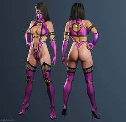 Mileena - Mortal Kombat (2011) custom by ZabZarock