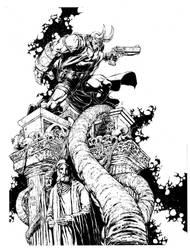 hellboy by keucha