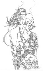 Red Sonja commision piece by keucha