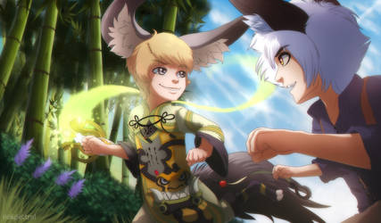 Blade and Soul: Mischievous Spirits by nospectral
