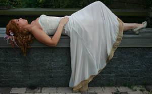 White dress 01 by MarjoleinART-Stock