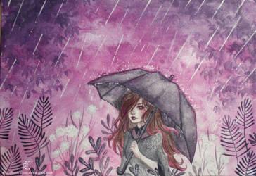 Rainy day by ARiA-Illustration